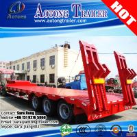 Buy cheap AOTONG Heavy duty 55 ton 3 axle semi low bed trailer with manual ramps for Philipines from wholesalers