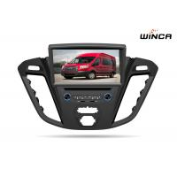 Black 8 Inch 2015 Ford Transit Dvd Player , Built In Gps Bluetooth Head Unit