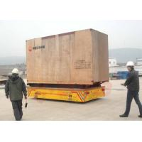 Buy cheap 15t Rubber wheel transfer cart for consctruction material handling from wholesalers
