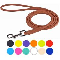 Buy cheap Multiple Sizes Rolled Leather Dog Leash Rope Soft Padded Multicolored from wholesalers