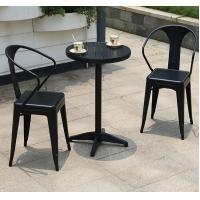 Buy cheap Modern design indoor / outdoor dining room cheap restaurant/cafe wood plastic chairs with small table furniture sets from wholesalers