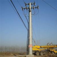 Buy cheap Decorative Steel Utility Pole Hot Dip Galvanized Octagonal Single Arm High Mast Pole product