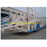 Buy cheap 28 tons Landing Car Hauler Trailer / Car Hauler Carrier Transport Trailer for 6 To 25 cars from wholesalers