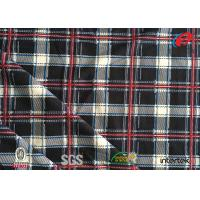 Buy cheap Custom Design Polyester Tricot Knit Fabric Check Printed 3-4 Grade Colour Fastness from wholesalers