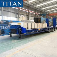 Buy cheap 4 Axle 120 Tonne Step Deck Semi Low Loader Trailer for Sale from wholesalers