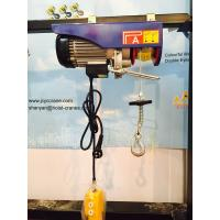 Buy cheap 100 - 240V Electric Wire Rope Hoist With Moving Trolley Single Hook from wholesalers