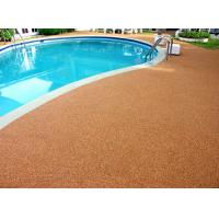 Buy cheap Shock Proof Pool Rubber Flooring , Abrasive Resistant Swimming Pool Flooring Materials from wholesalers