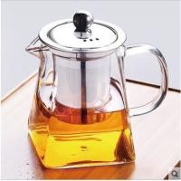 Buy cheap suqare glass teapot with stainless steel infuser from wholesalers