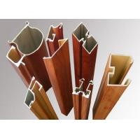 Buy cheap Wood Grain Aluminum Window Frame Extrusions Antirust Abrasion Resistant from wholesalers
