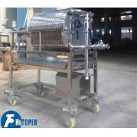 Buy cheap SS Material Plate And Frame Industrial Filter Press With Roller Equipped product