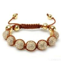 Buy cheap Gold Shamballa Bracelets (hf-xyb1) from wholesalers