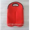 Buy cheap Neoprene wine bottle cooler handbag 2 bottle pack, neoprene bottle cooler sleeve from wholesalers