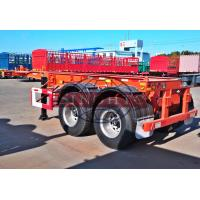 Buy cheap 30 Tons Skeletal Container Trailer , 2 Axle 20 Foot Skeleton Semi Trailer from wholesalers