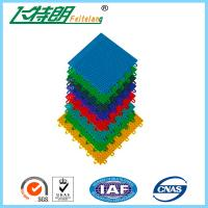 Buy cheap PP Installation Rubber Interlocking Floor Mats For Tennis / Basketball Court product