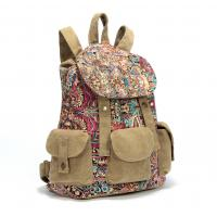 Buy cheap Fashional Canvas Backpack For Women & Girls Casual colorfull Book Bag For school Daypack from wholesalers