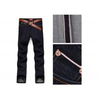 Buy cheap Men ' S Straight Selvedge Denim Jeans , Stretchable Denim Jeans With Red Line from wholesalers