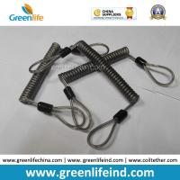 Buy cheap Double loops Wire Reinforced Plastic Spiral Lanyard Transparent Black Anti-theft Retainer from wholesalers