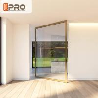 Buy cheap Aluminum Insulating Glass Pivot Entrance Doors For Apartment Main Gate Glass pivot door pivot glass door hinge modern from wholesalers