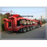 Buy cheap Transport 50 Ton Low Bed Flatbed Equipment Trailers With Jost King Pin from wholesalers