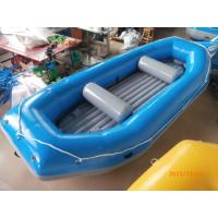 Buy cheap Blue River Rafting Boat With Inflatable Floor / Raft Inflatable Boat from wholesalers
