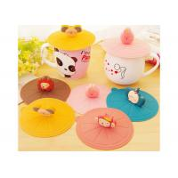 Buy cheap Food Safety , Cartoon Animal Image , Cute Design , Silicone Mug Lid , Factory Supply Promotional Gift from wholesalers