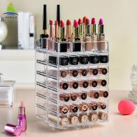 Buy cheap Rotating Acrylic Lipstick Holder Spinning Lipstick Tower 3mm Thickness from wholesalers