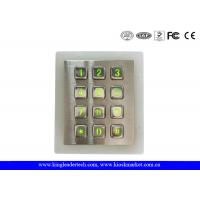 Buy cheap Weatherproof Green Backlit Metal Keypad For Low - Lit Environment from wholesalers