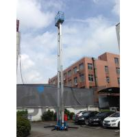 Buy cheap 14 Meter Aluminum Alloy Aerial Work Platform Blue Color For Window Cleaning from wholesalers