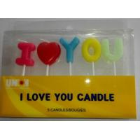 Buy cheap I LOVE YOU letters candles birthday cake candles Wedding Cake candles from wholesalers
