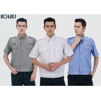 Buy cheap Durable Police And Security Guard Uniform Mens Shirts With Two Pockets from wholesalers