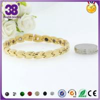 Buy cheap 316L Stainless Steel Full Gold Bio Element Rosary Bracelet,freely laser your logo from wholesalers