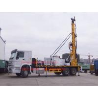 Buy cheap Sinotruk Truck Mounted Water Well Drilling Rig , Cummins Engine Hydraulic Water Drilling Equipment from wholesalers