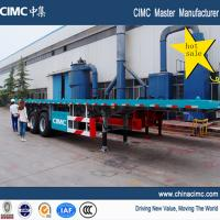 Buy cheap hot sale tri-axle flatbed trailer , 20ft 40ft tri-axle flatbed trailer from wholesalers