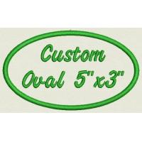 Buy cheap Oval Custom Embroidered Name Tag Biker Patch from wholesalers
