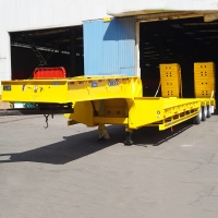 Buy cheap CIMC 80T Lowbed Semi Trailer For Sale Manufacturer In Zimbabwe from wholesalers