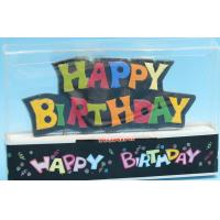 Buy cheap Happy Birthday Painted Shaped Birthday Candle With Black Backgrand SGS & ISO9001 from wholesalers