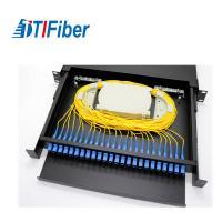 Buy cheap Distribution Patch Panel Fiber Optic Terminal Box 24 48 96 Ports LC SC 19' Rack product