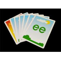 Buy cheap Personalized Kids Educational Flash Cards , Glossy / Matt Paper Preschool Flashcards from wholesalers