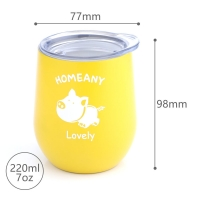 Buy cheap BSCI 7 Oz 220ml Stainless Steel Stemless Wine Tumblers from wholesalers