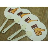 Buy cheap Durable Expression face PP Hand Fan Plastic Sticks Advertising Customised Logo from wholesalers