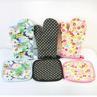 Buy cheap OEM Printed Oven Gloves , Cute Oven Mitts Various Colors Slip Resistant product