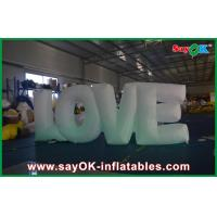 Buy cheap Popular 190T Nylon Inflatable Lighting Decoration For Valentines Day from wholesalers