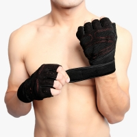Buy cheap OEM Shockproof Breathable Cycling Gloves , M L XL Half Finger Hand Gloves from wholesalers
