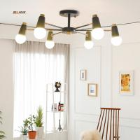 China Simple chandeliers wrought iron living room bedroom study children 's room store Nordic lighting office lights led lamps on sale