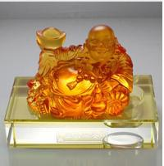 Buy cheap art glass crafts car crystal decorations liu li buddha from wholesalers