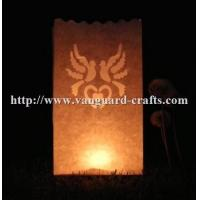 Buy cheap cute paper candle bags in white color wholesale paper candle bags for decoration party product