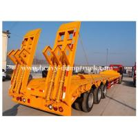Buy cheap Low Bed Trailers with Air Suspension System and 2 axles or 3 axles and Q345 Steel plate from wholesalers