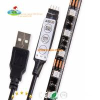 Buy cheap Free shipping for USA market 5V RGB waterpoof IP65 5050 LED Strip Light with Mini Controller USB Cable by Mufue from wholesalers