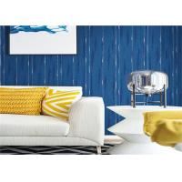 Buy cheap Blue Washable Contemporary Textured Wallpaper Embossed For Wall Background product