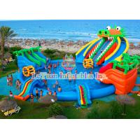 Buy cheap Dinosaur Inflatable Water Slides Double Stitching Quadrupl Stithing  Reinforcement from wholesalers